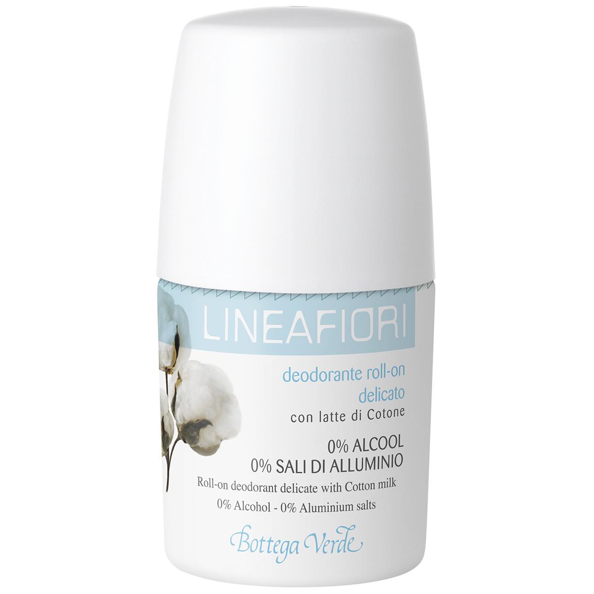 Linea Fiori - Deodorant Roll-on Cu Lapte De Bumbac - Delicat