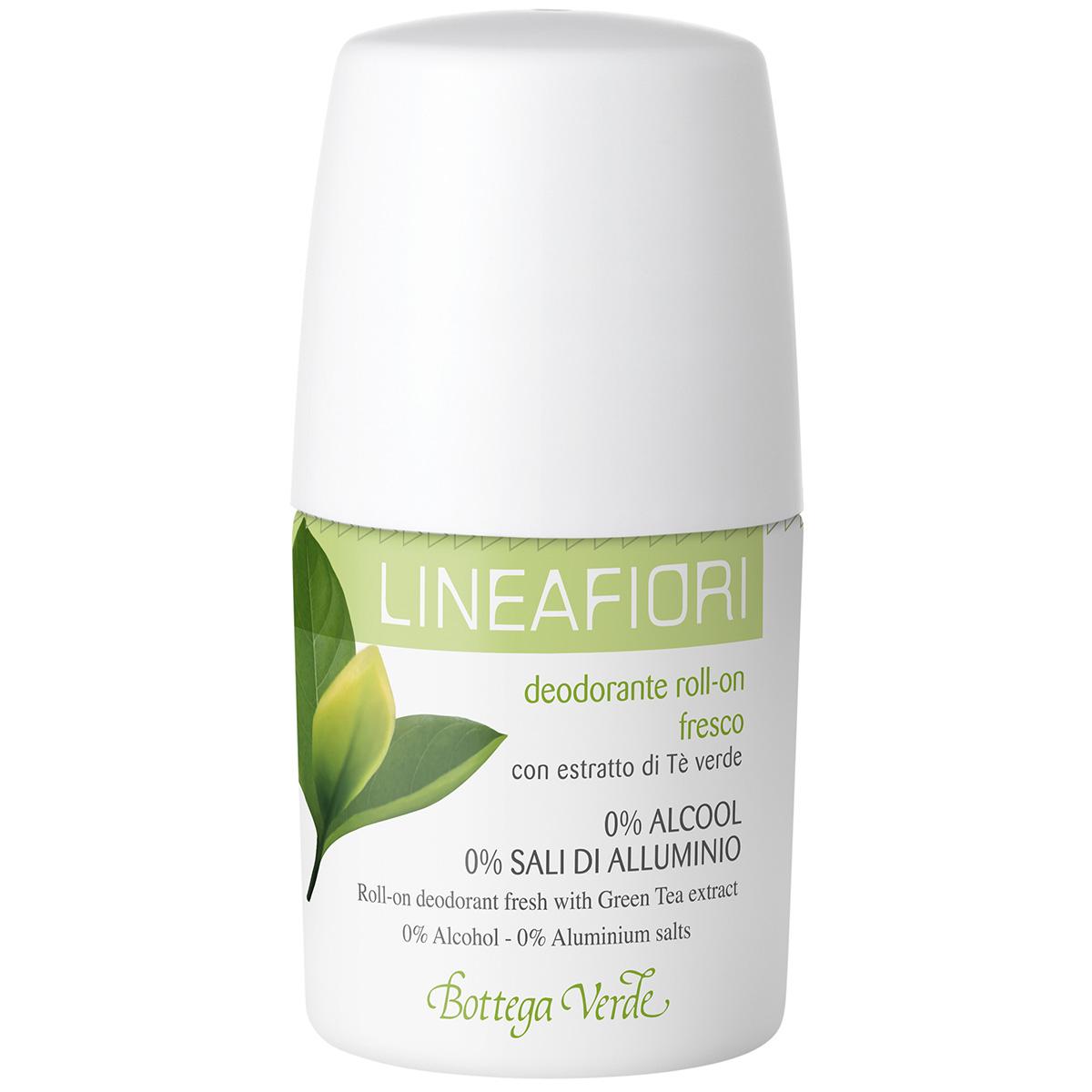 Linea Fiori - Deodorant Roll-on Cu Extract De Ceai Verde - Fresh
