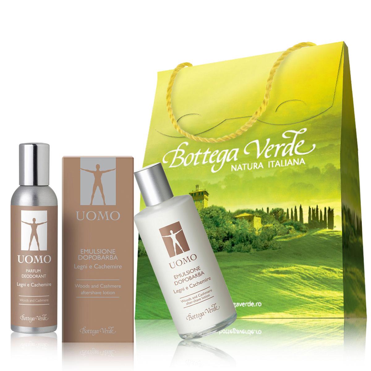 Set Cadou - Parfum Deodorant Si Emulsie Dupa Barbierit Cu Extract De Abanos Si Mahon