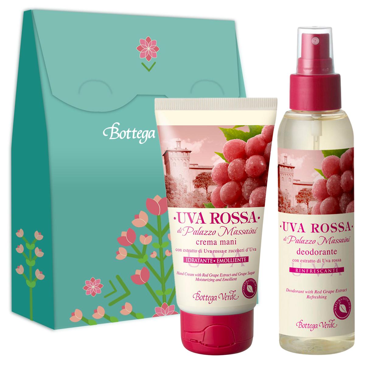 Set Crema De Maini Si Parfum Deodorant Cu Extract De Struguri Rosii