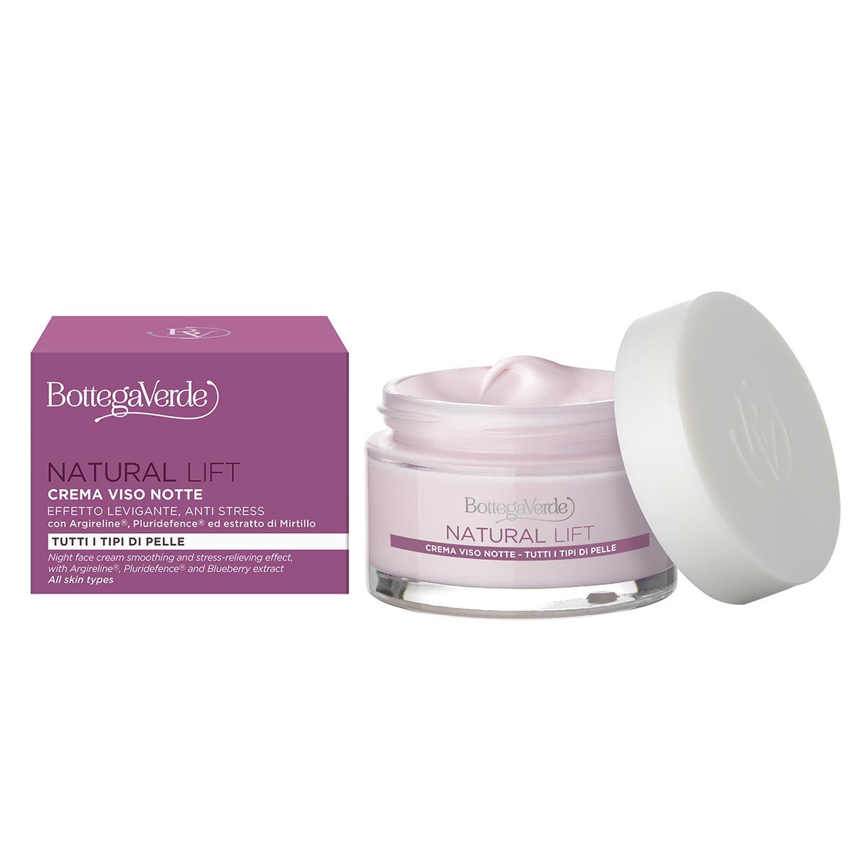 Crema de noapte cu Argireline, Pluridefence si extract de afine - Natural Lift, 50 ML