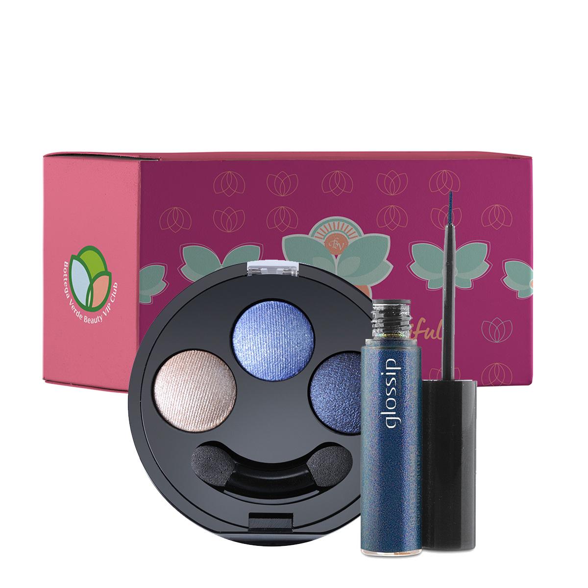 Set make-up trio albastru