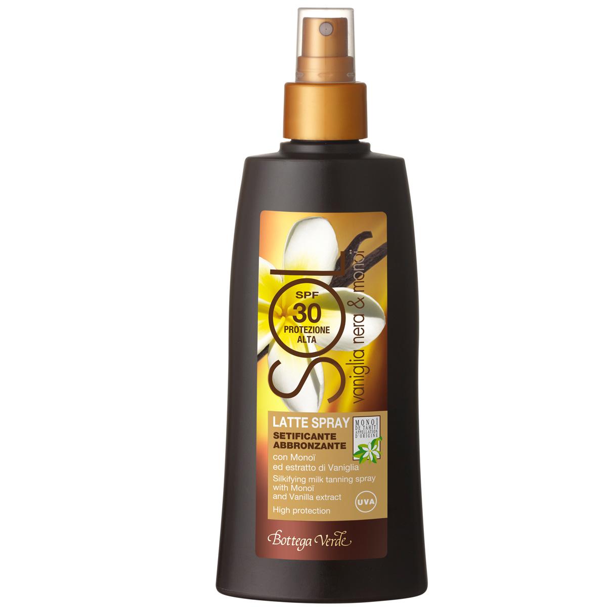 Lapte spray  pentru bronz intens, cu monoi si extract de vanilie - Sol Vaniglia Nera e Monoi , 200 ML