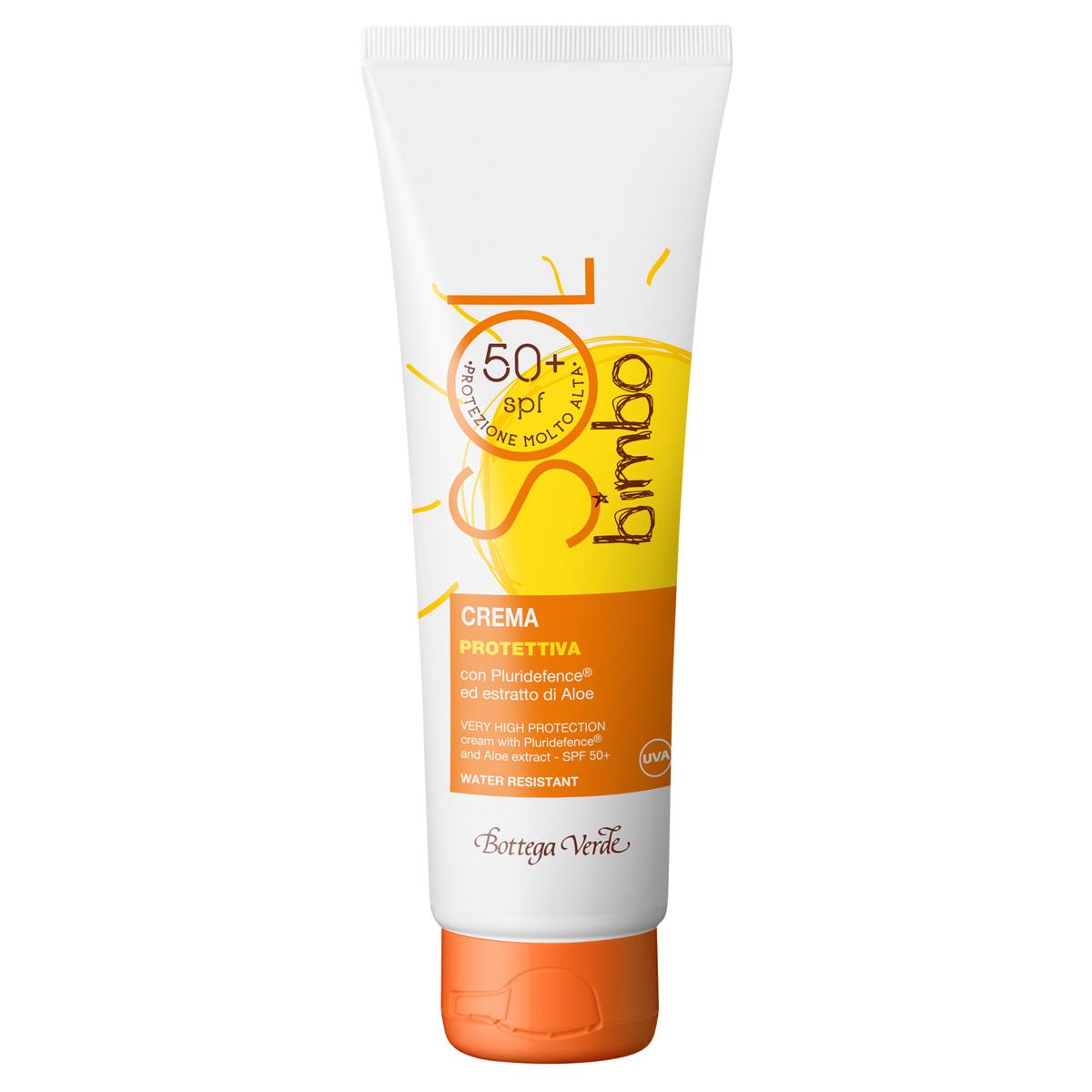 Crema pentru copii, cu Pluridefence si extract de aloe - waterproof - Sol Bimbo, 125 ML