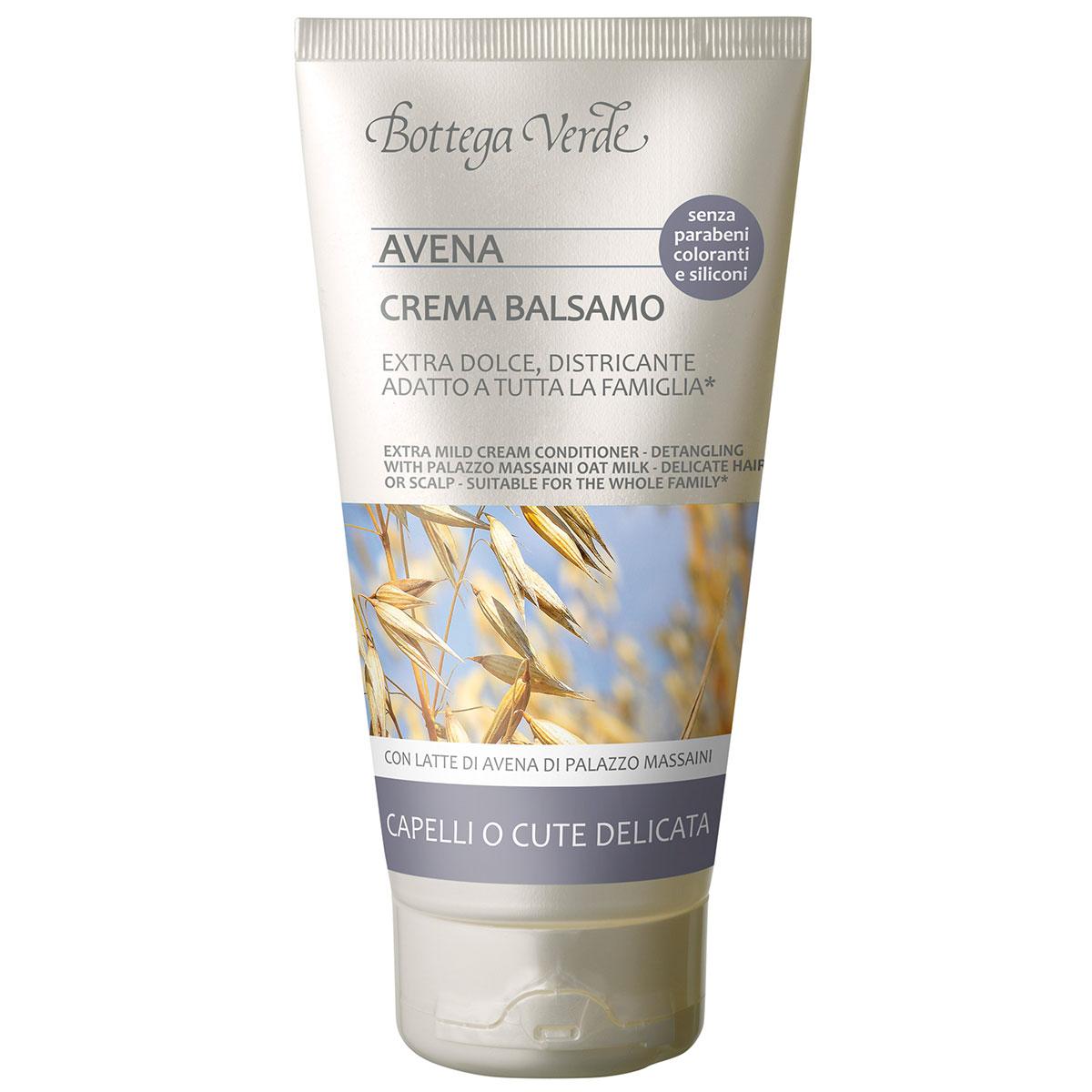 Balsam-crema pentru descurcarea parului, cu lapte de ovaz de la Palazzo Massaini - Avena, 150 ML