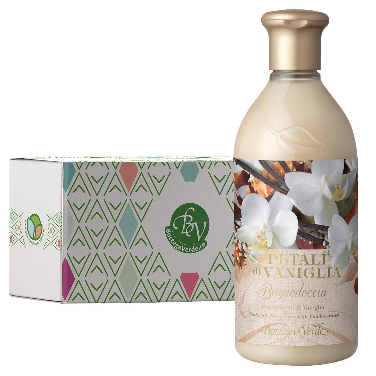 Gel de dus cu extract de vanilie in cutie cadou