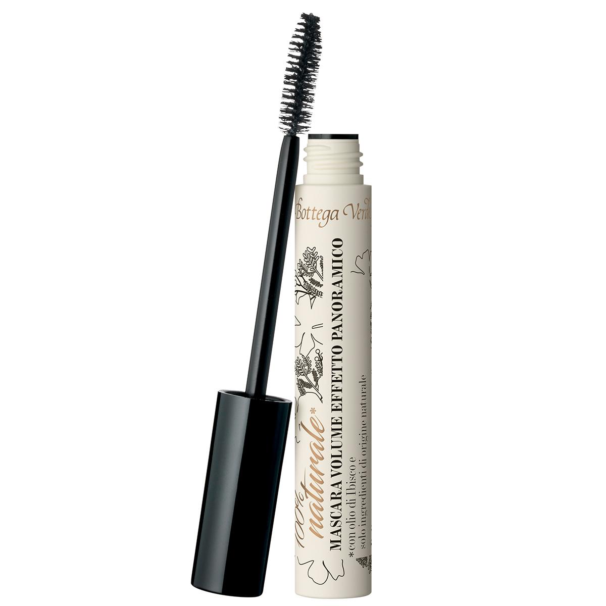 Mascara Volum cu efect panoramic, cu ulei de Hibiscus, negru inchis - 100% natural, 12 ML