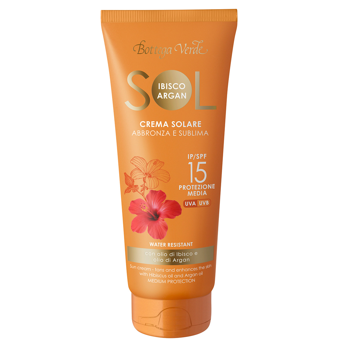 Crema pentru plaja cu ulei de hibiscus si argan - waterproof - Sol Ibisco Argan, 200 ML