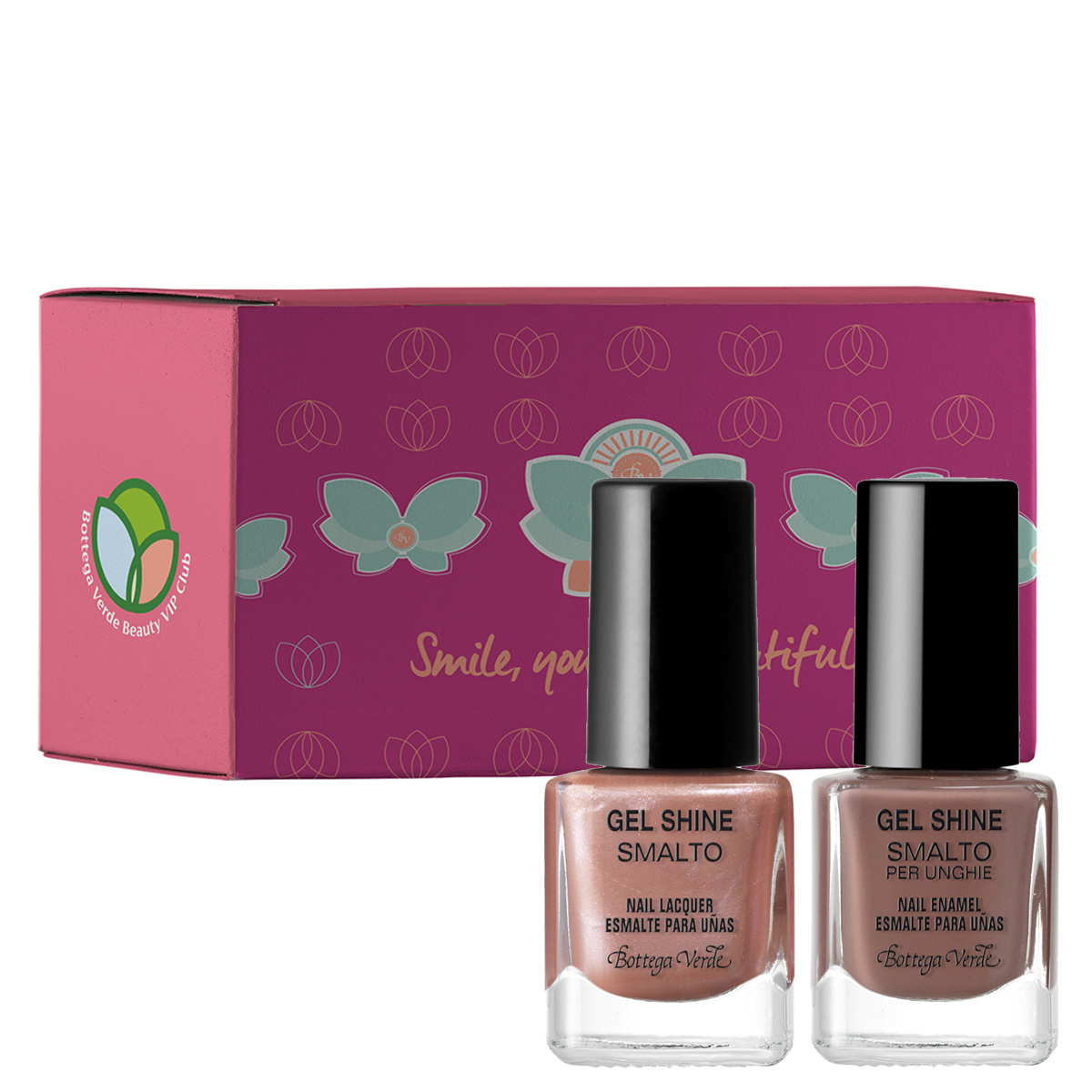 Set Peach and Chocolate - Gel Shine, 5 ML + 5 ML