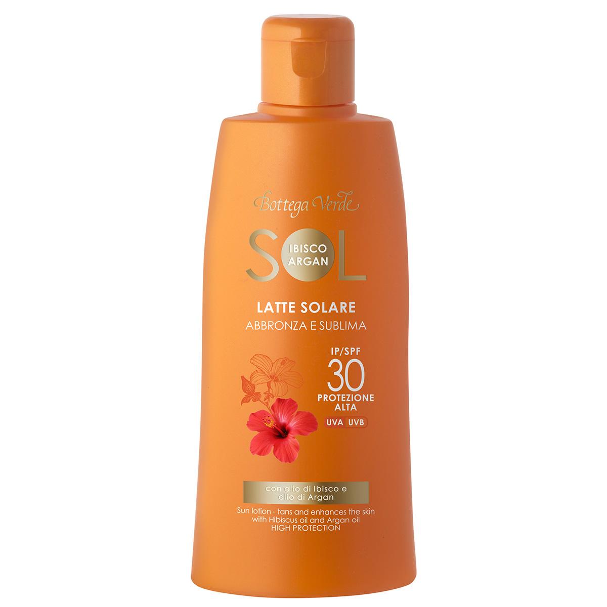 Lapte de corp pentru plaja cu ulei de hibiscus si argan - waterproof - Sol Ibisco Argan, 200 ML