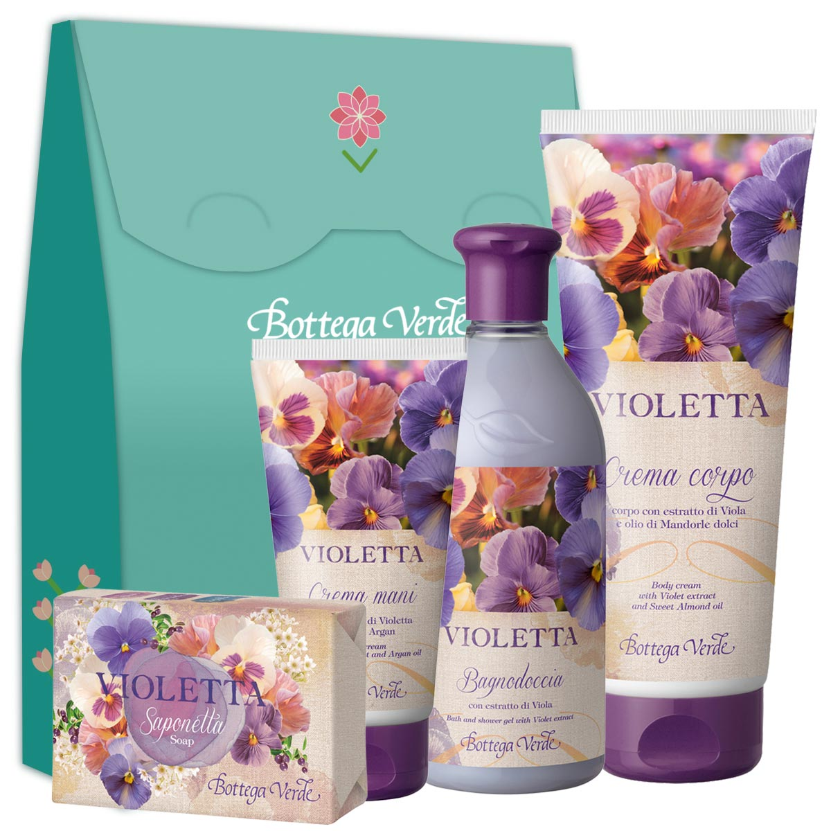 Set ingrijire corp cu extract de violete