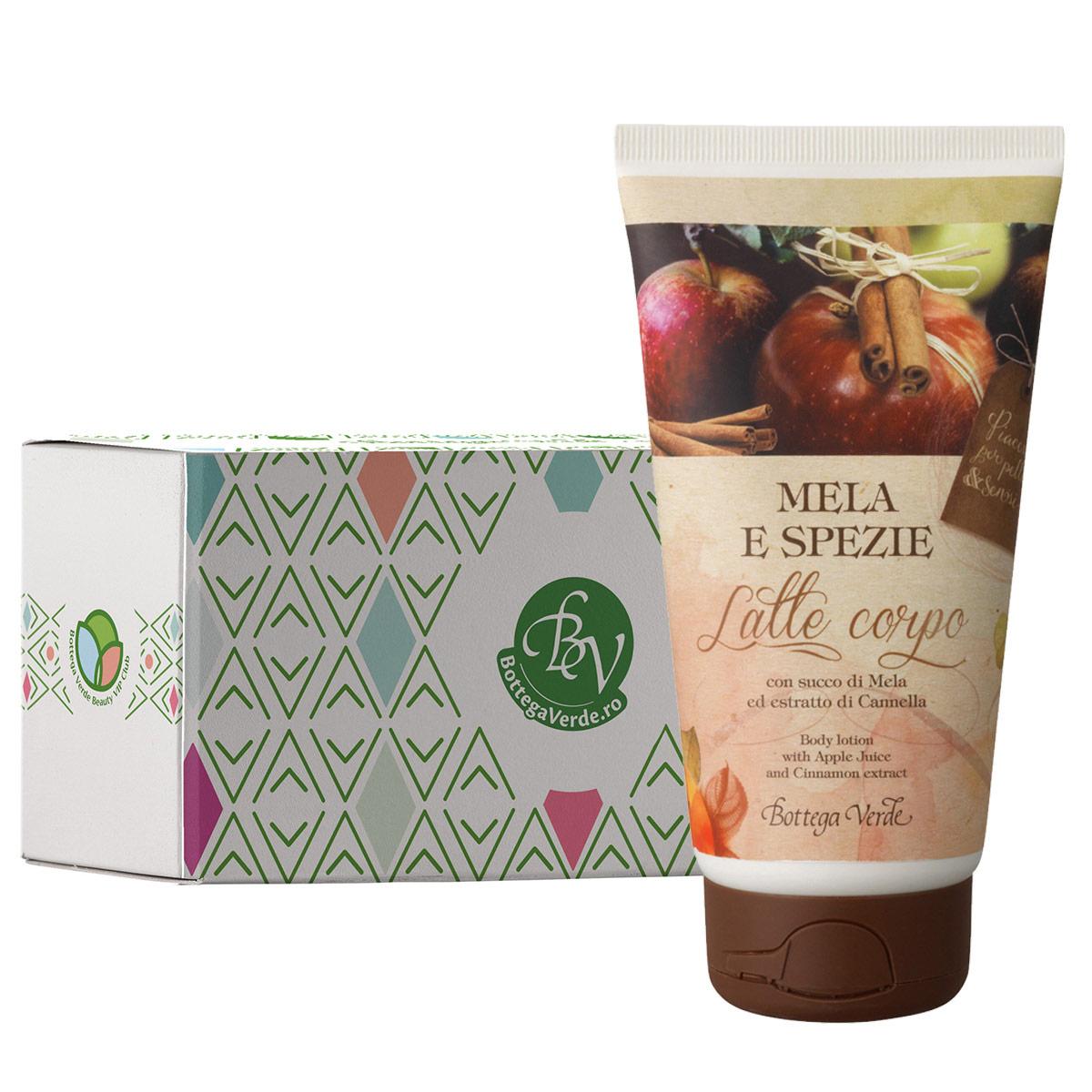 Lapte de corp cu extract de mere si scortisoara in cutie cadou - Mela e Spezie, 150 ML