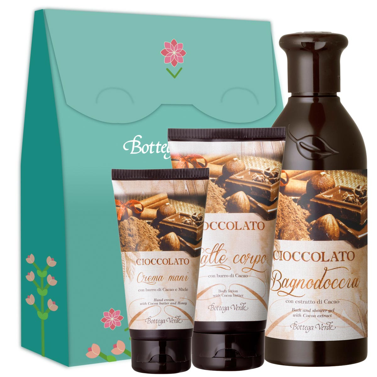 Set ingrijire corp cu unt de cacao si miere
