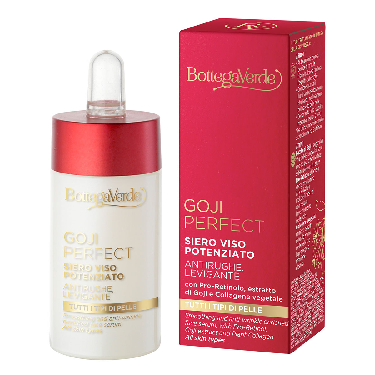 Ser antirid cu pro-retinol, extract de goji si colagen vegetal - Goji Perfect, 30 ML