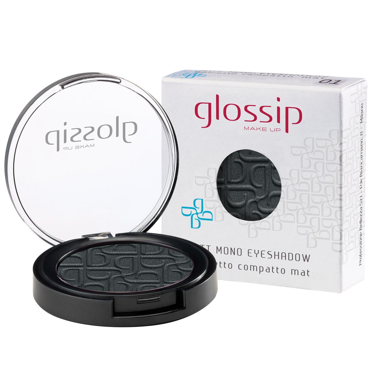 Fard de pleoape compact luminos, gri - Glossip