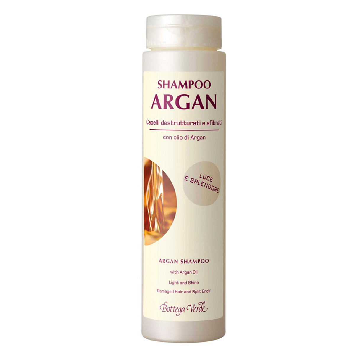 Sampon cu ulei de argan pentru parul deteriorat si uscat, efect de stralucire - Argan del Marocco, 200 ML