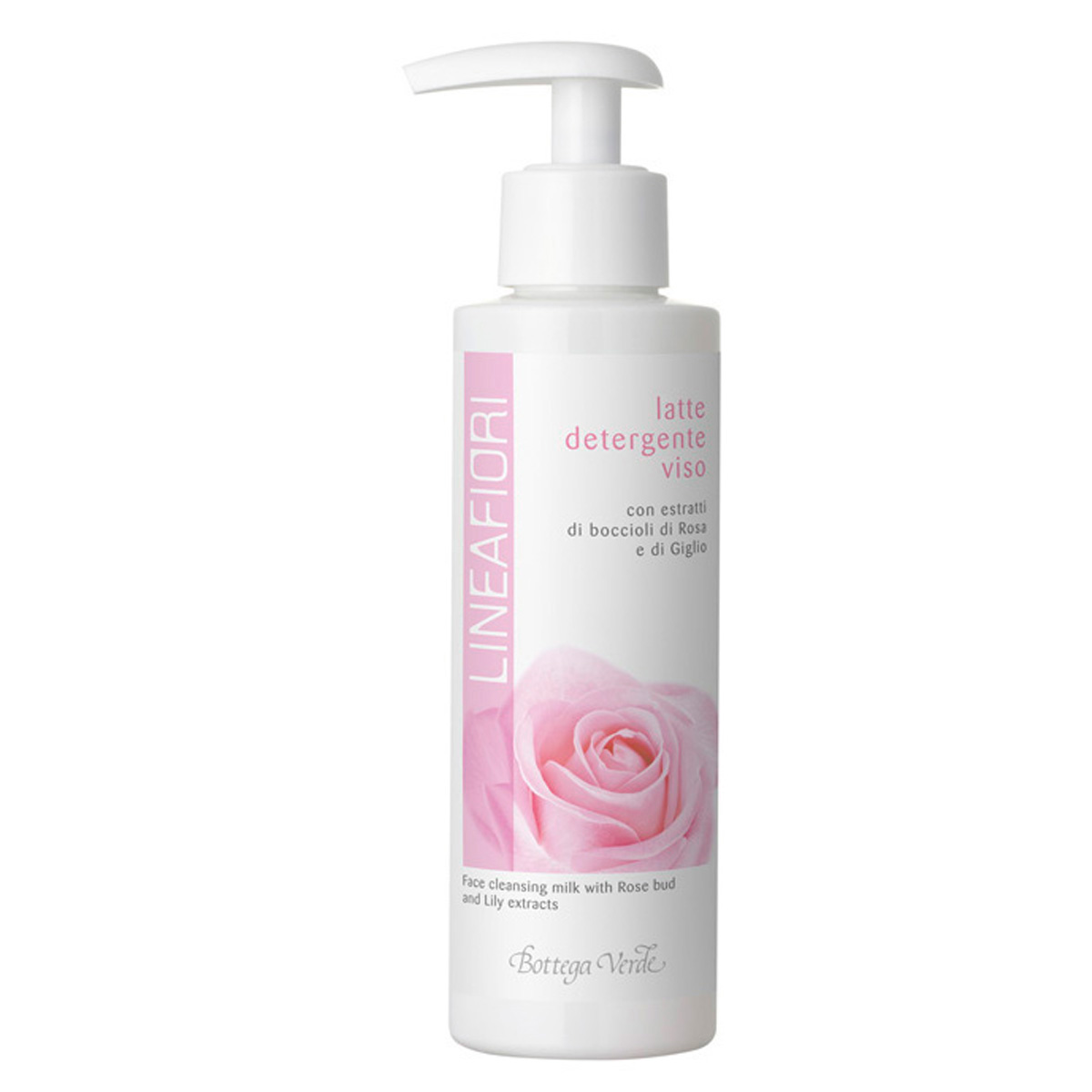 Lapte demachiant pentru fata cu extract din muguri de trandafiri si crini - Lineafiori, 150 ML