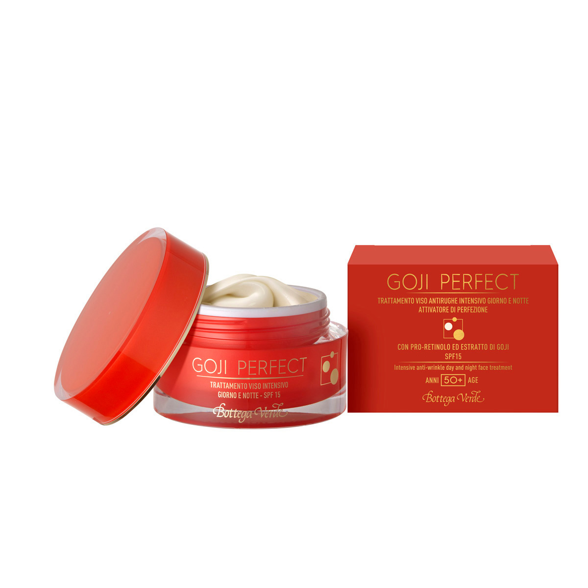 Goji perfect - Tratament pentru fata, anti-rid intensiv, de zi si de noapte cu PRO-Retinol si extract din Goji - SPF15 - 50+