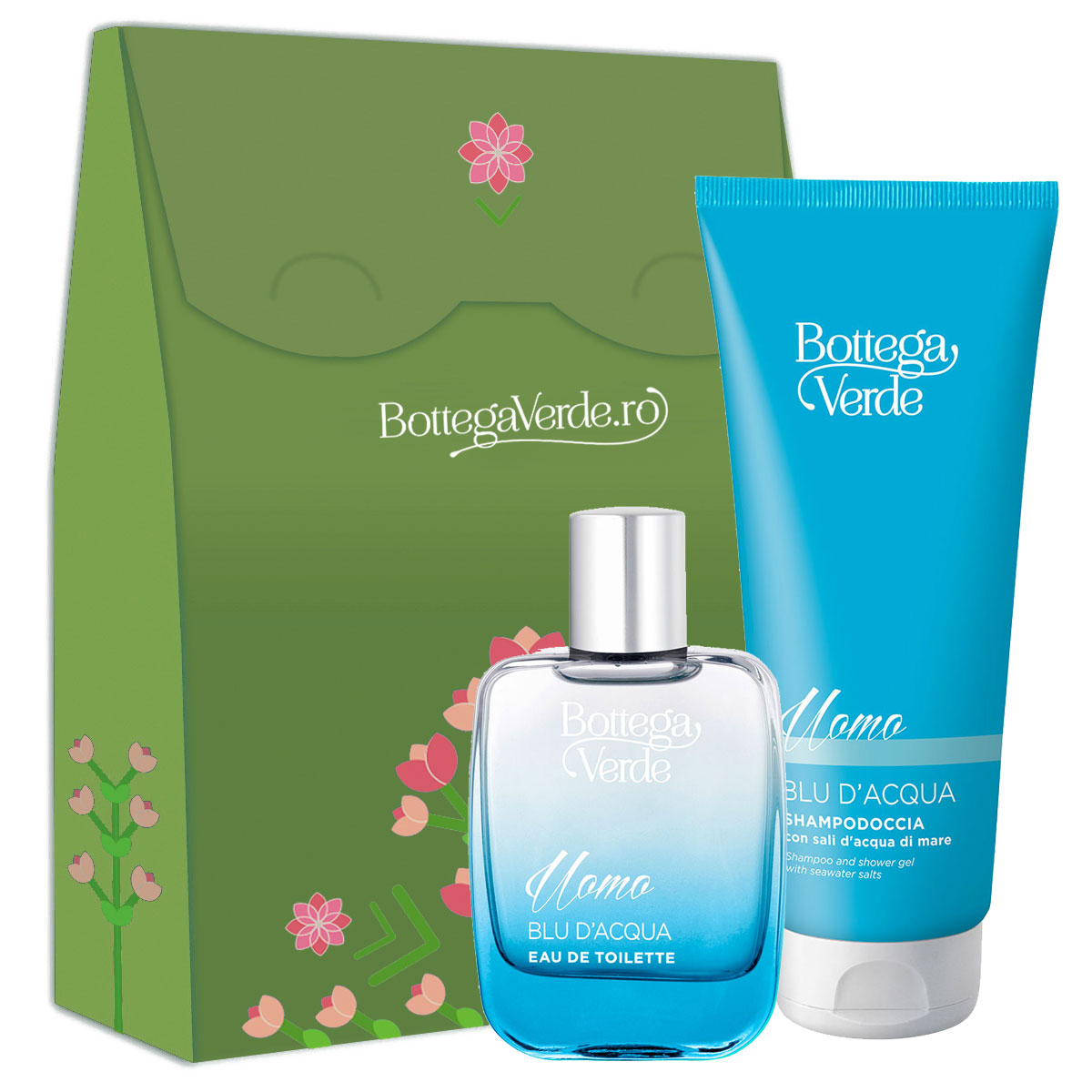 Set barbati Blu D'acqua, 200 ML + 50 ML