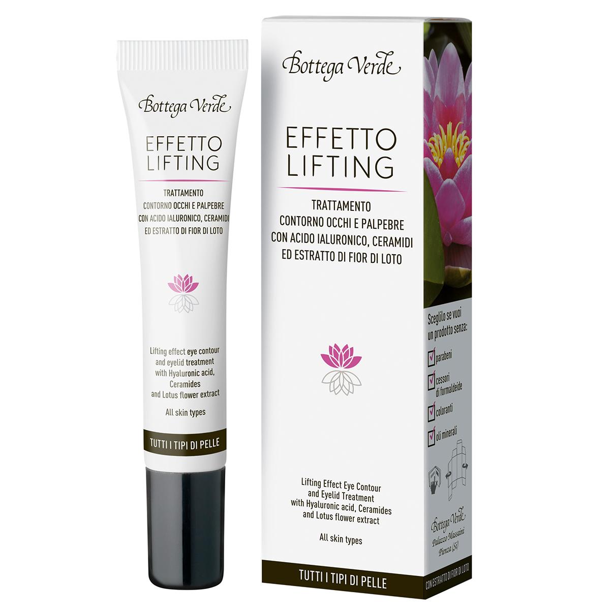 Tratament Lifting Pentru Zona Din Jurul Ochilor Si Pentru Pleoape Cu Acid Hialuronic Si Extract Din Flori De Lotus
