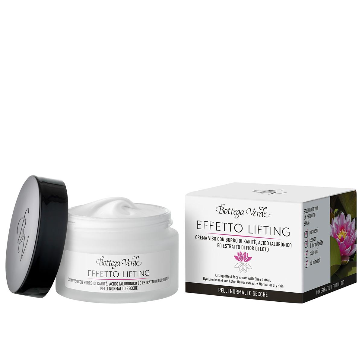 Crema de fata cu efect lifting cu unt de shea, acid hialuronic si extract din flori de lotus