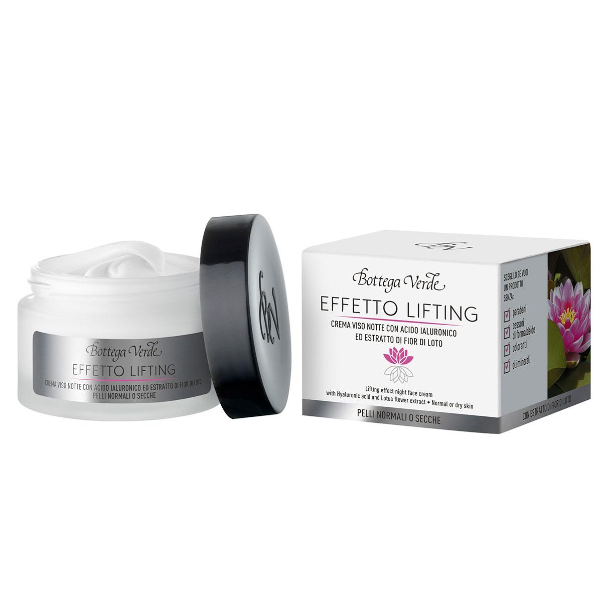 Crema de fata, de noapte, cu efect lifting cu unt de shea, acid hialuronic si extract din flori de lotus