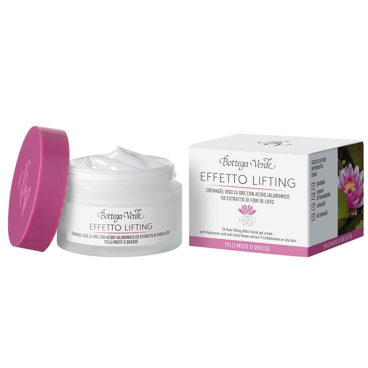 Crema de fata, de zi, pentru ten mixt, cu efect lifting cu unt de shea, acid hialuronic si extract din flori de lotus