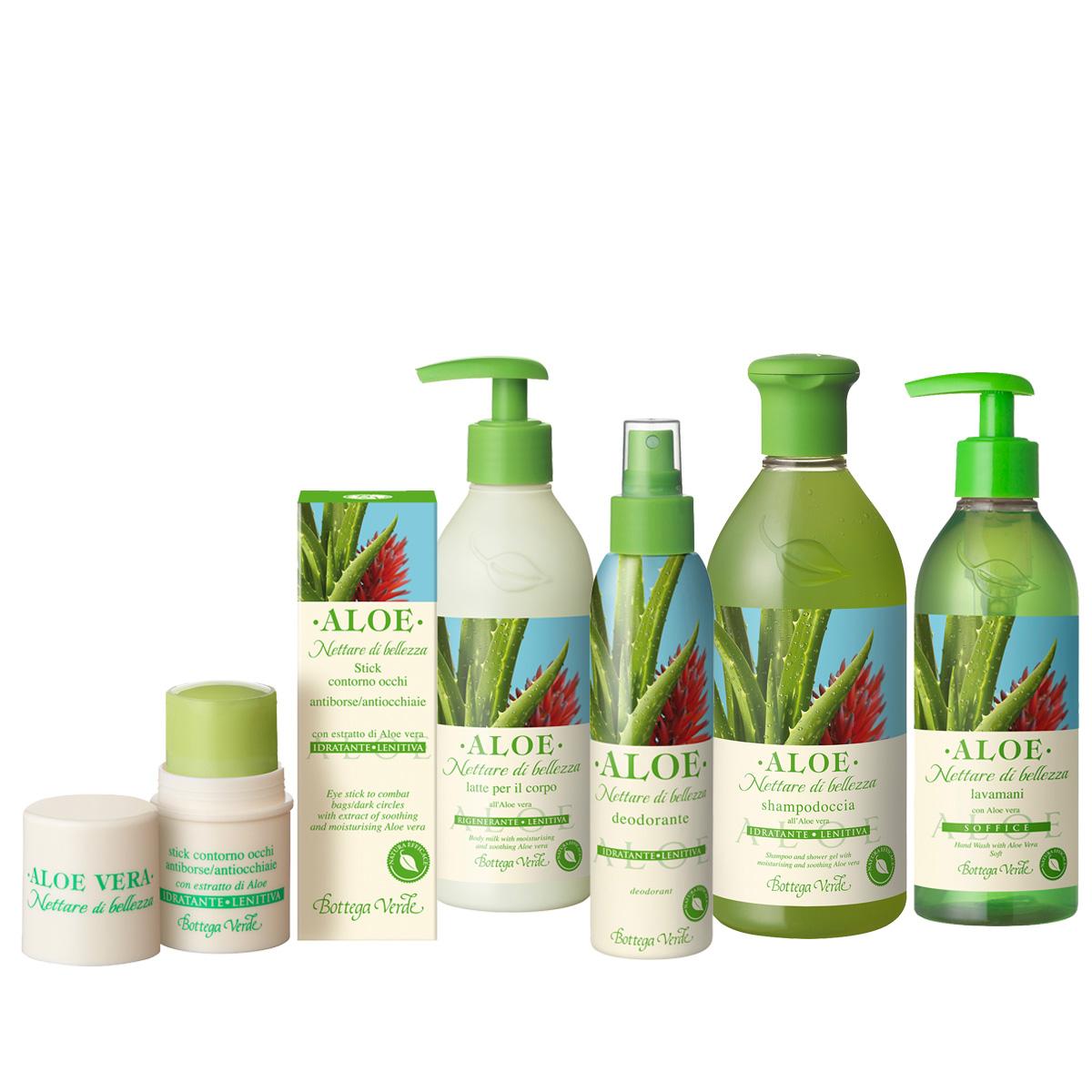 Set Aloe Vera Mix - Aloe, 125 ML + 250 ML + 5 ML + 250 ML + 400 ML