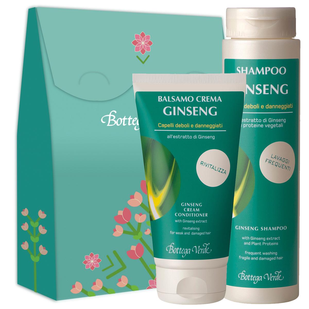 Set cadou - Ginseng - Sampon si balsam de par cu extract de ginseng si proteine vegetale