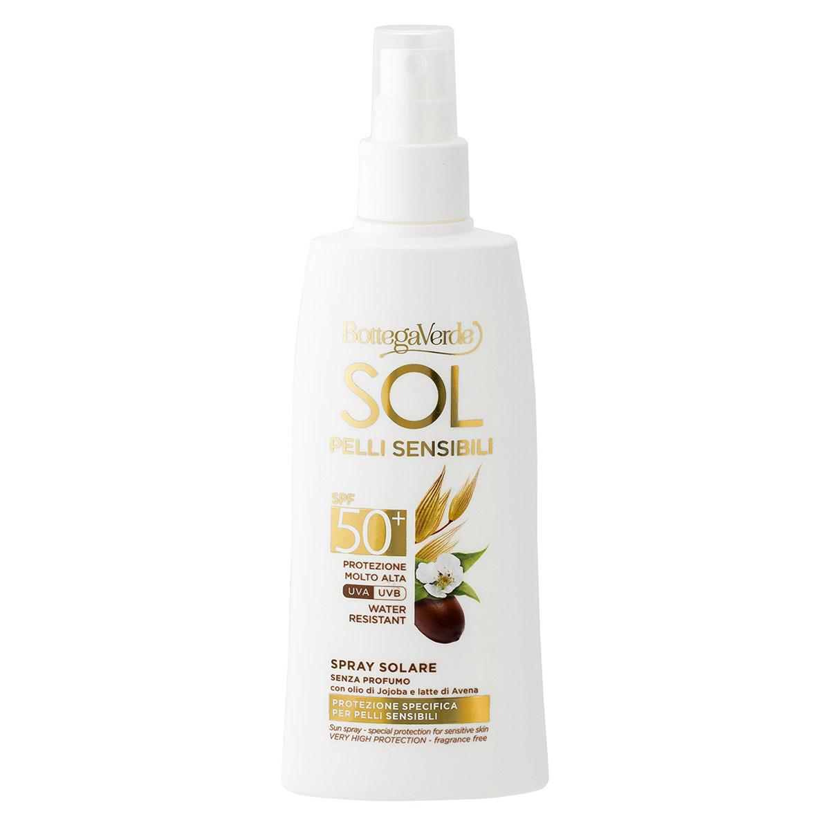 Spray protectie solara, rezistent la apa, cu ulei de Jojoba si lapte de ovaz, SPF50 imagine