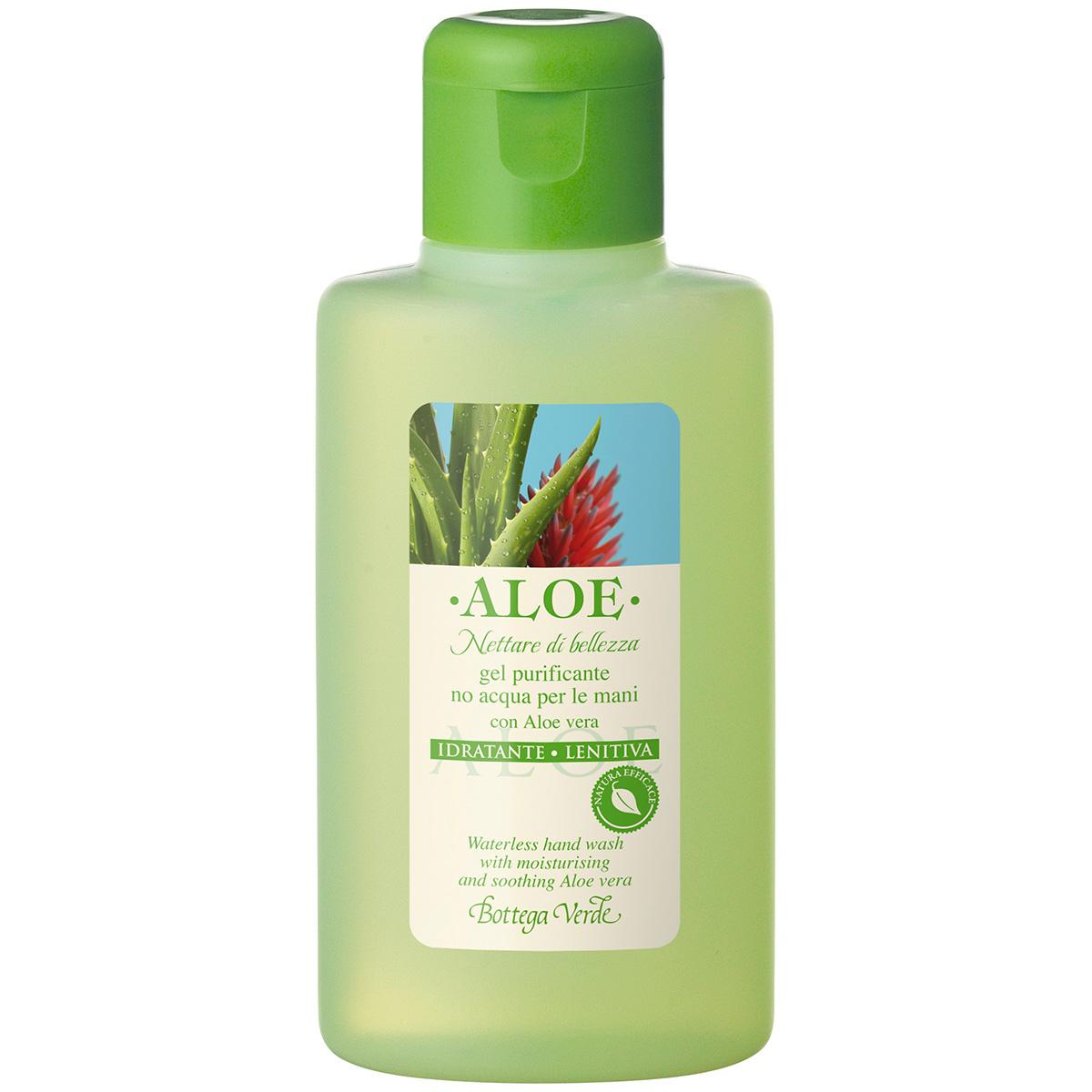 Gel purificator pentru curatarea mainilor, cu extract de Aloe Vera - Aloe, 100 ML