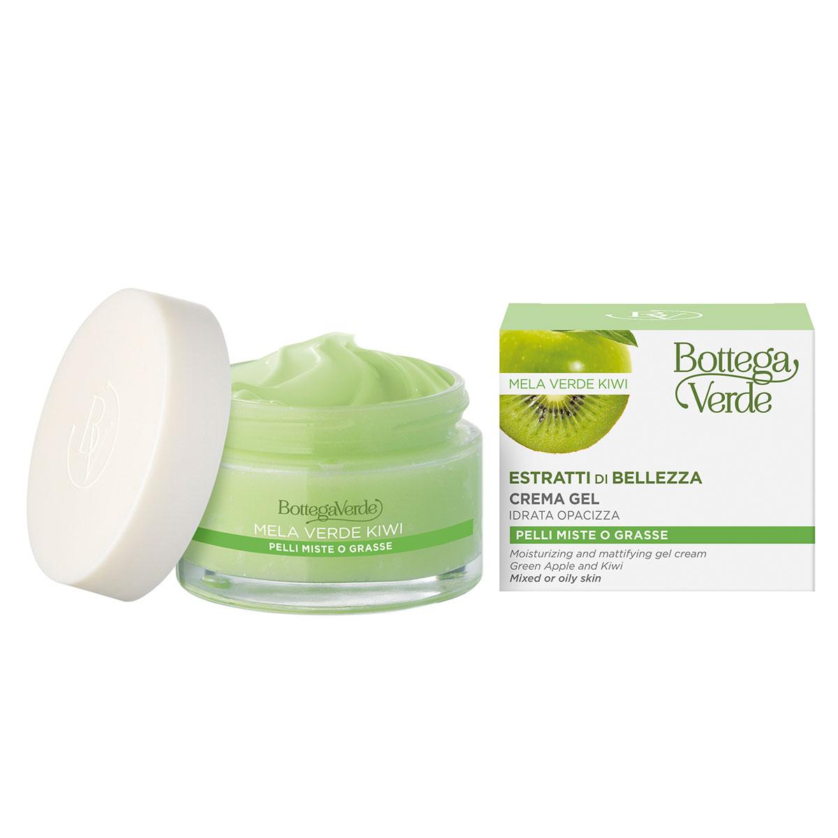 Crema - gel hidratanta cu mar verde si kiwi - Estratti di Bellezza, 50 ML