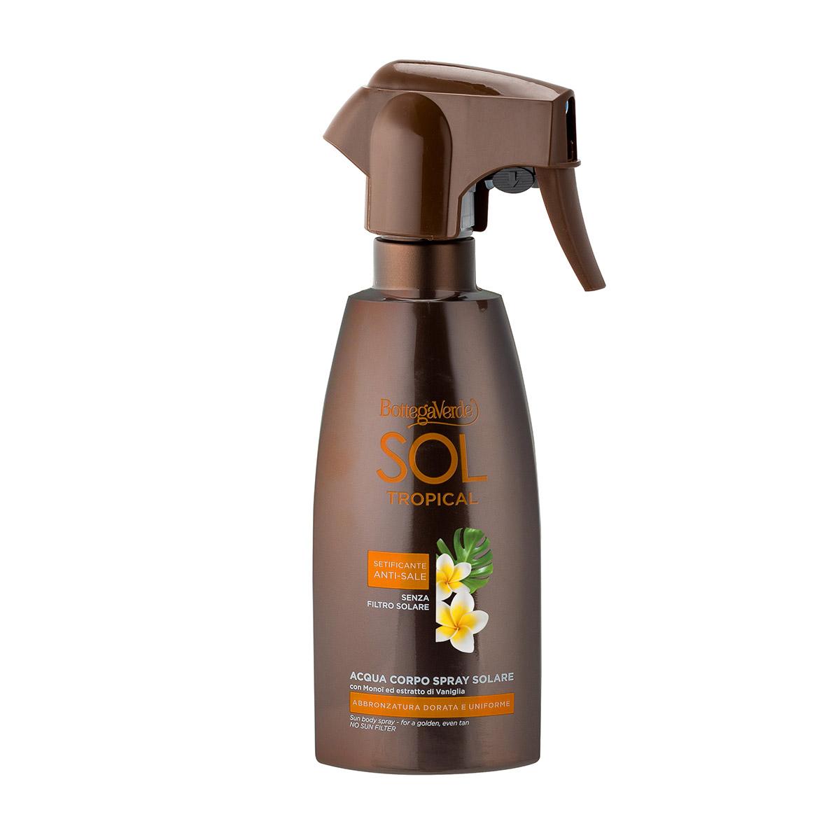 Spray pentru intensificarea bronzului cu extract de vanilie si ulei de monoi - Sol Tropical, 200 ML