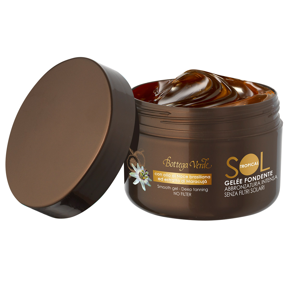 Gel pentru un bronz intens cu ulei de nuci de Brazilia si extract de maracuja - Sol Tropical, 200 ML