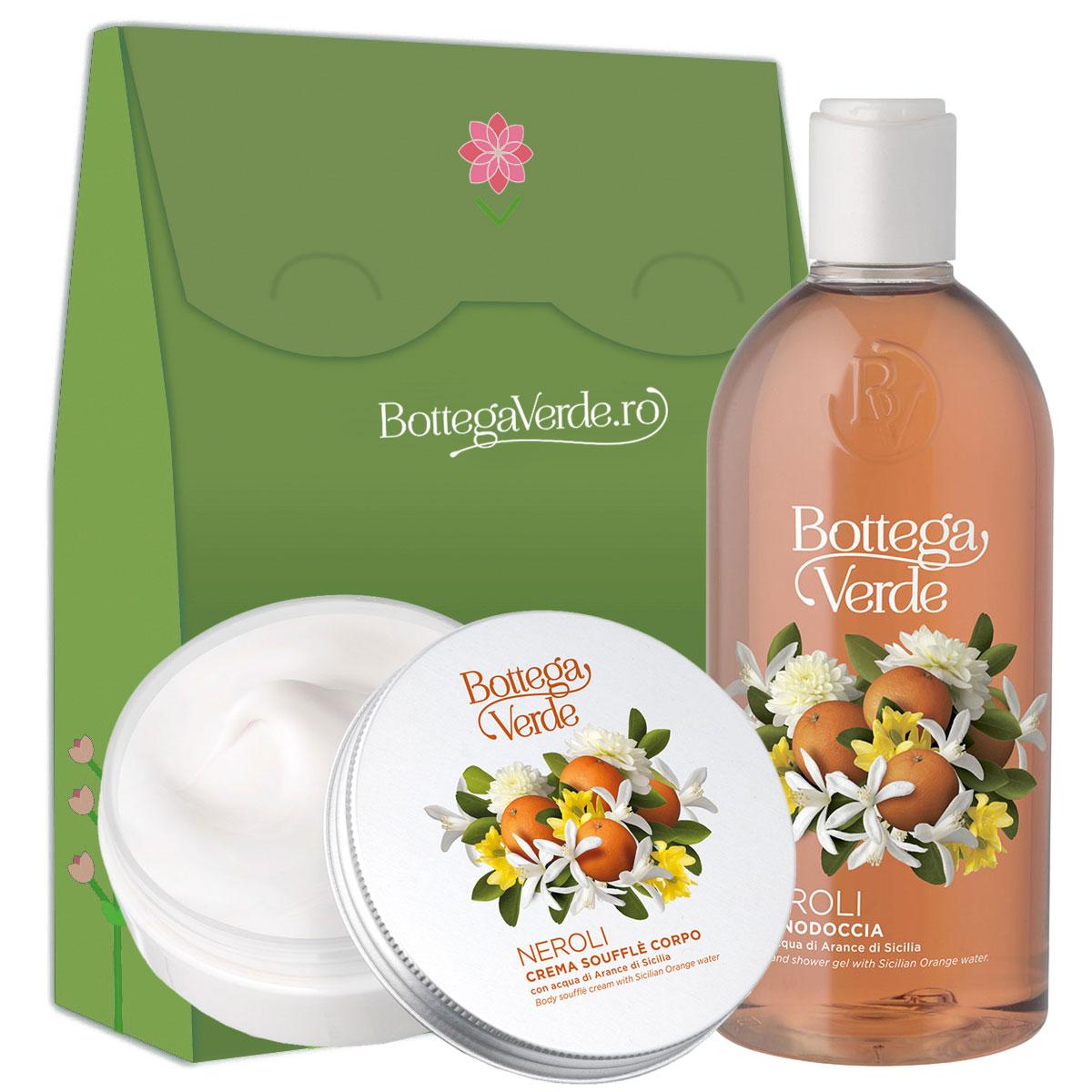 Set cadou femei hidratare corp cu aroma de flori de portocal imagine
