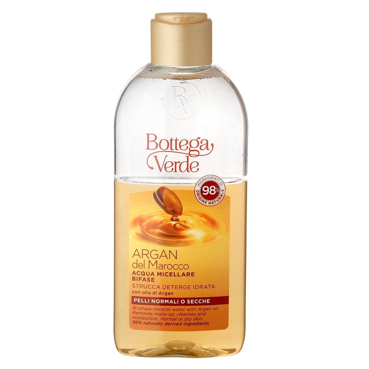 Apa micelara bifazica, pentru toate tipurile de ten, cu ulei de argan imagine produs
