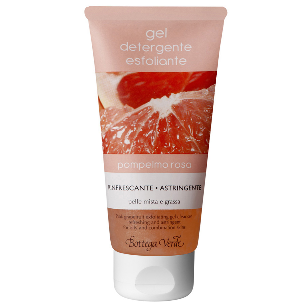 Gel Demachiant Exfoliant Cu Grapefruit Roz - Purificator - Pentru Ten Mixt Si Gras