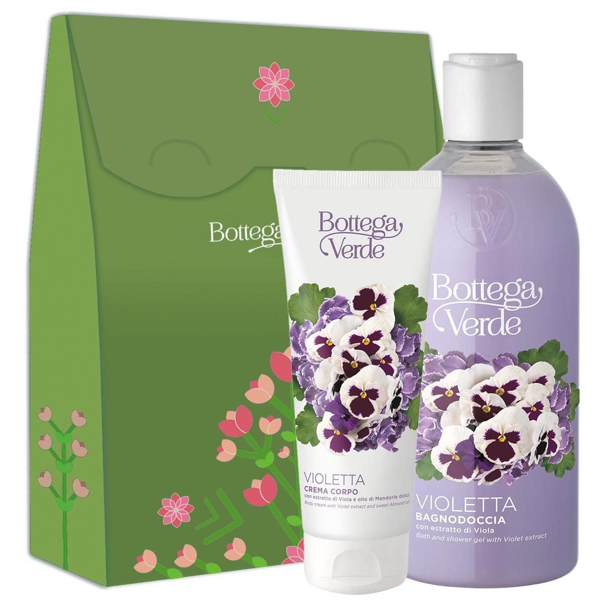 Set cadou femei ingrijire corp cu extract de violete si ulei de migdale dulci imagine