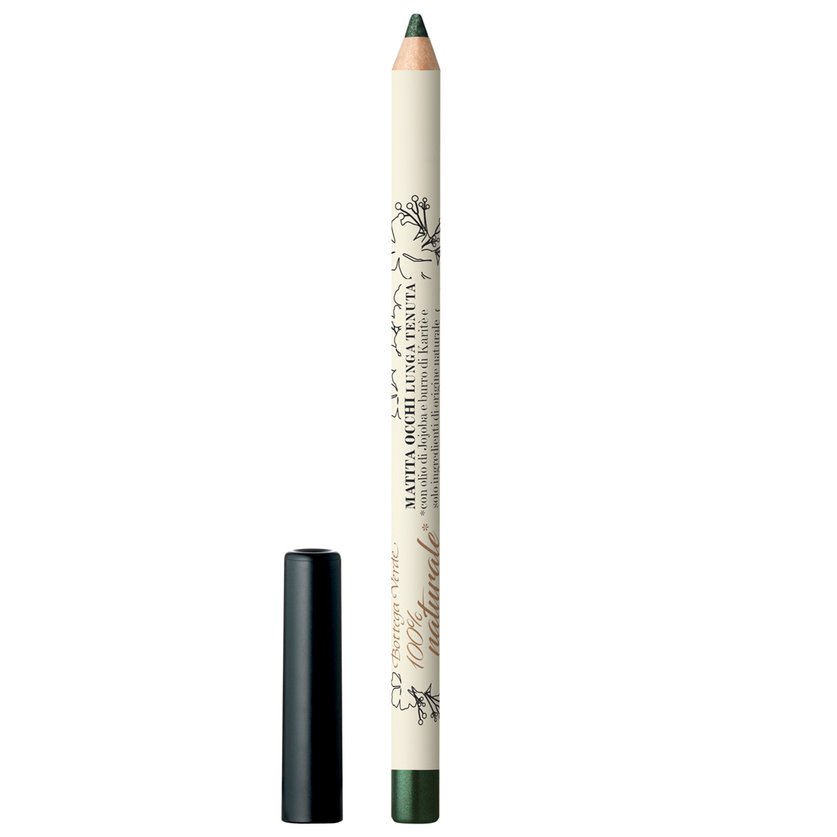 Creion pentru ochi alungiti, cu ulei de jojoba si unt de shea - delicat si intens