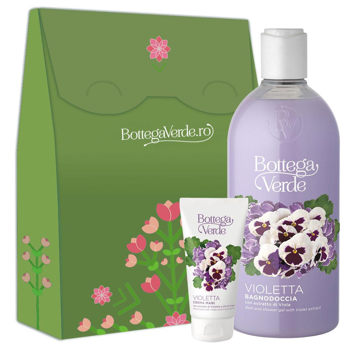Set cadou femei hidratare corp cu extract de violete imagine
