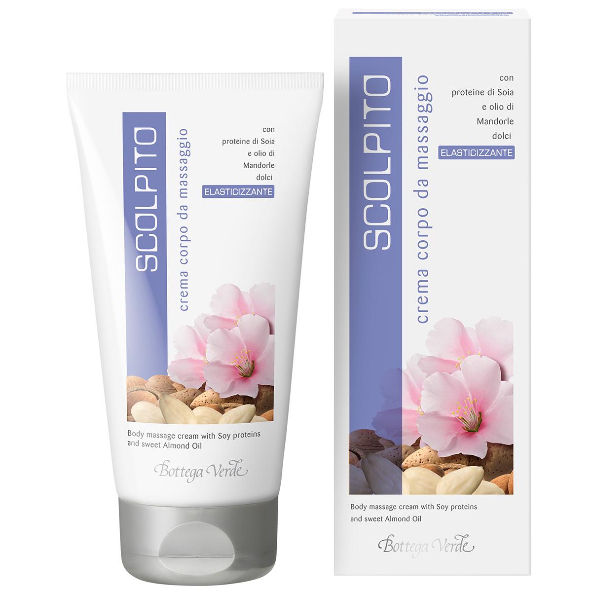 Crema de corp pentru masaj cu proteine de soia si ulei de migdale dulci - Scolpito, 150 ML