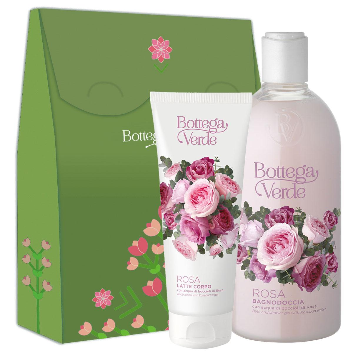 Set cadou femei ingrijire corp cu aroma de trandafiri imagine