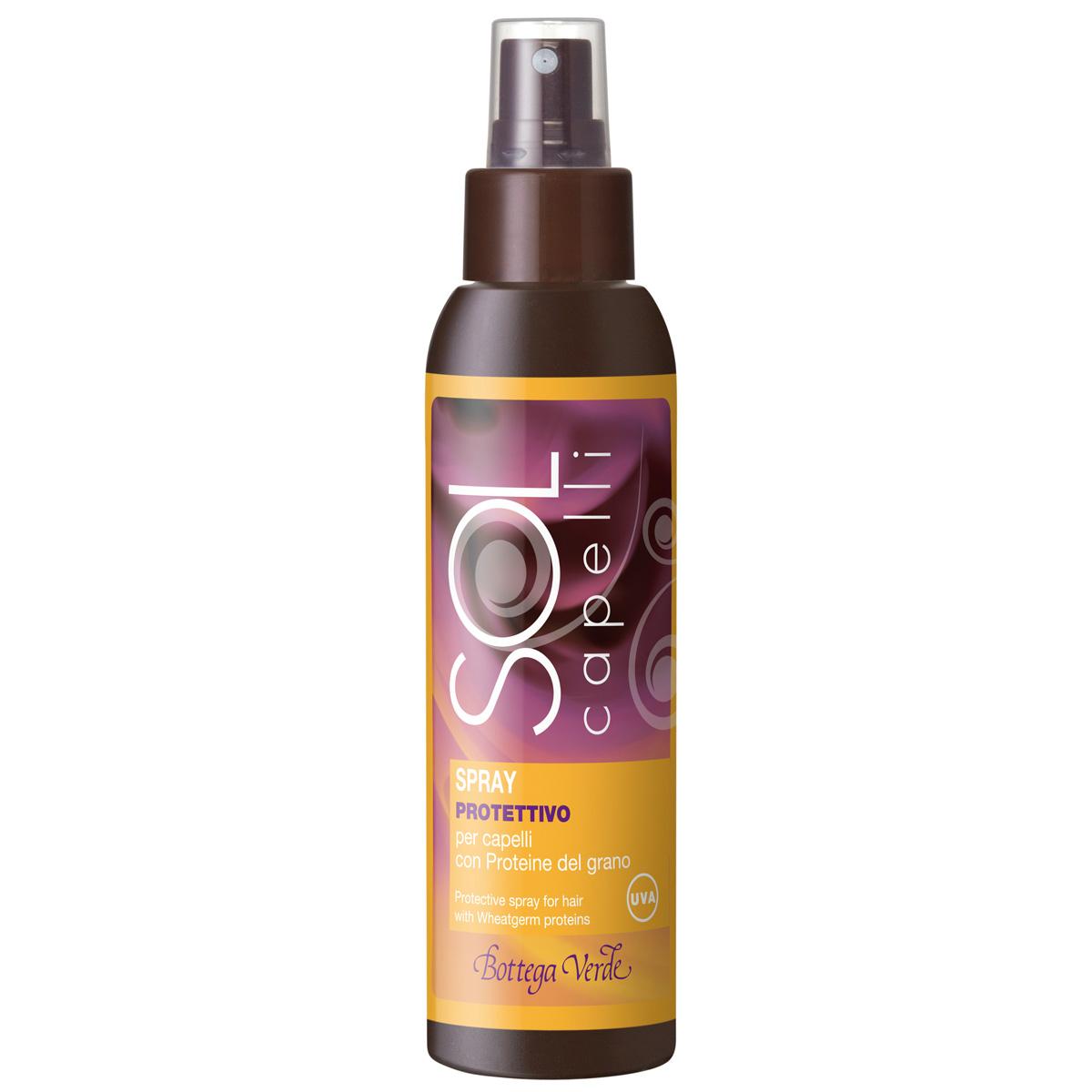 Protectie solara - Spray de protectie, pentru par, cu proteine de grau si filtru UV
