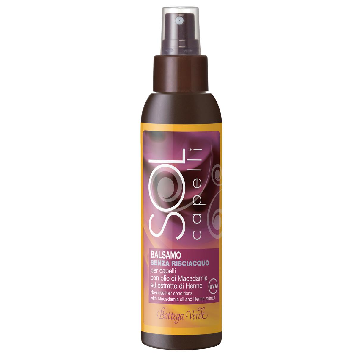Balsam pentru par cu ulei de macadamia si extract de henna - Sol Capelli, 100 ML