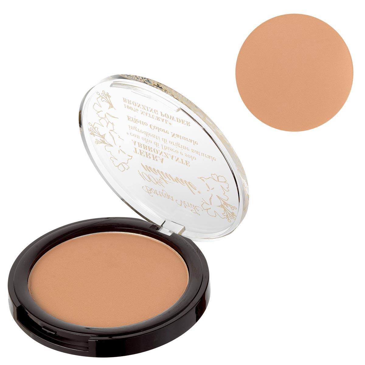 Pudra compacta bronzanta cu extract de ulei de hibiscus si ingrediente naturale, nude - 100% natural
