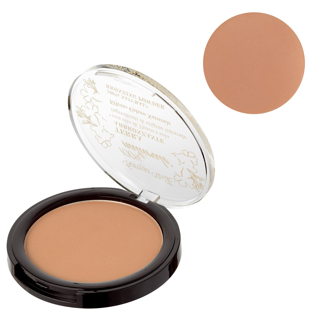 Pudra compacta bronzanta cu extract de ulei de hibiscus si ingrediente naturale, bronz - 100% natural