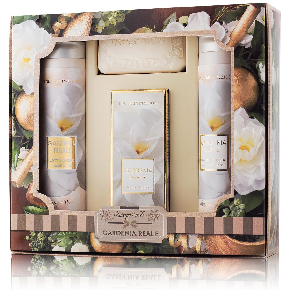 Set cadou - Nectaruri pretioase - Gel de dus, lapte de corp, sapun si parfum cu gardenie - I Nettari Preziosi, 50 ML, 200 ML, 100 G