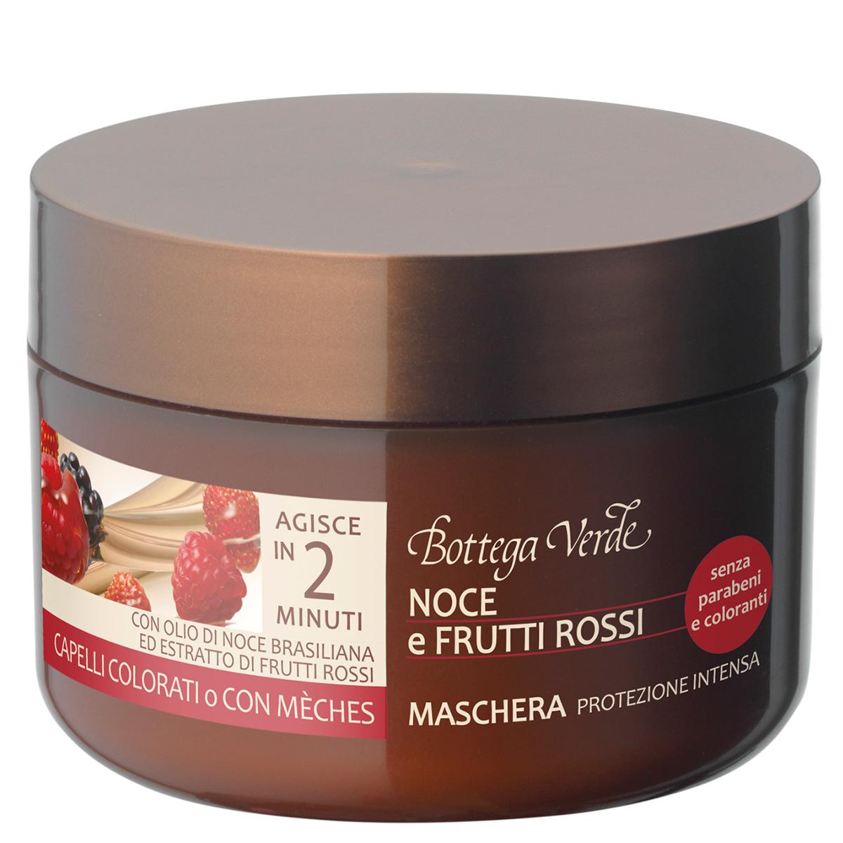 Masca cu ulei de nuci braziliene si mix de fructe rosii pentru par vopsit si cu suvite - Olio di Nocce e Frutti Rossi, 200 ML