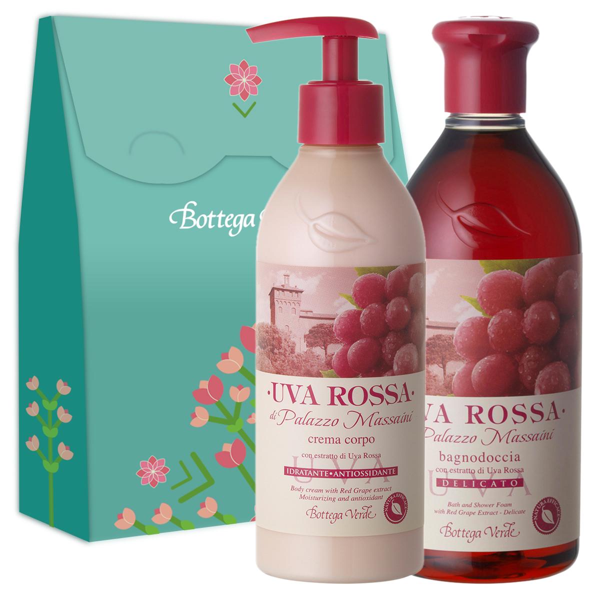 Set cadou - Gel de dus si crema de corp cu extract de struguri rosii