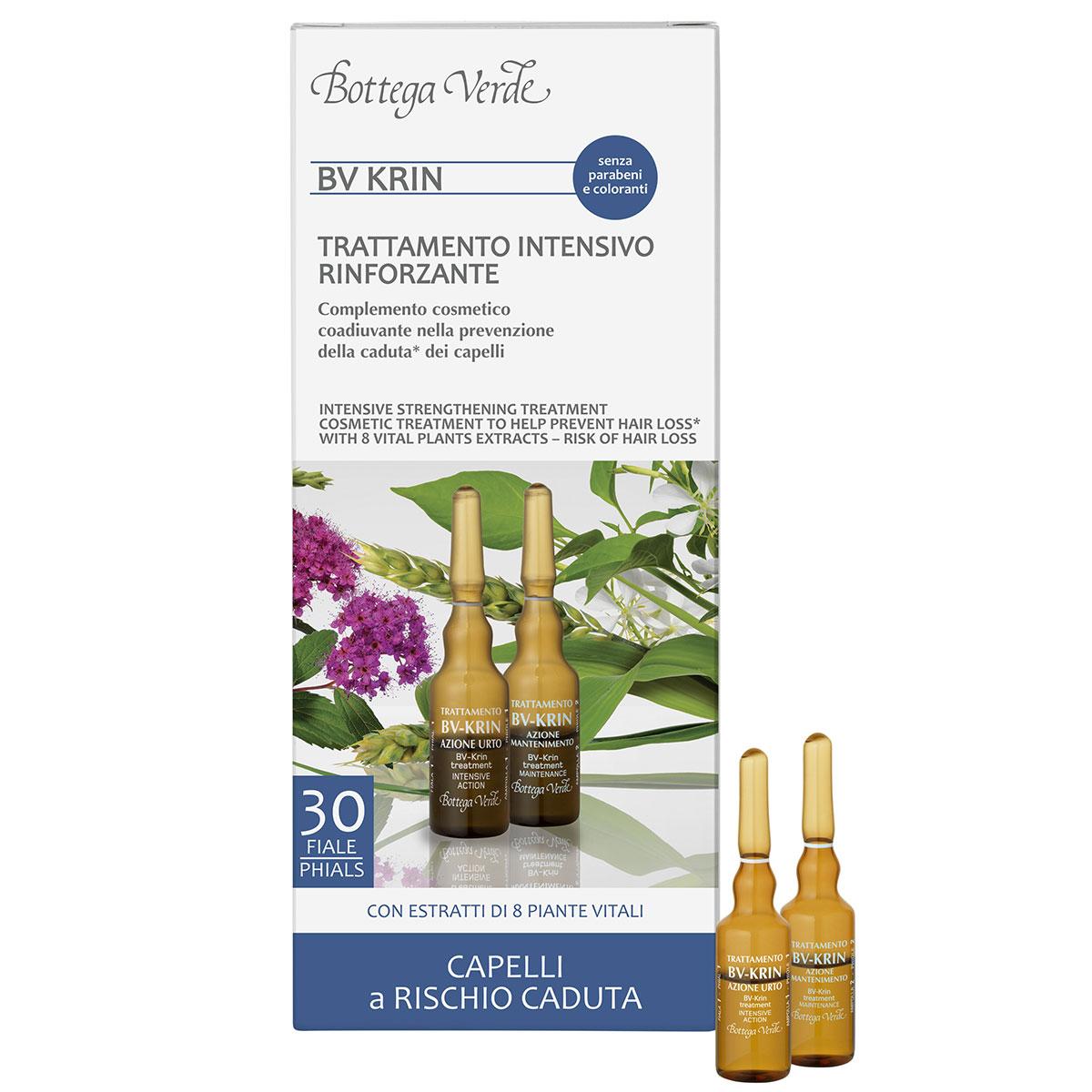 Tratament pentru prevenirea caderii parului - BV Krin, Ginseng, 30 FIOLE
